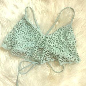 Other - Teal Ruffle Bikini Top